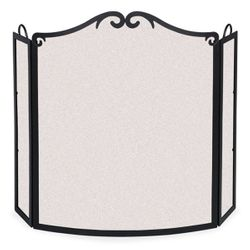 Extra Wide Arch Bowed Folding Fireplace Screen