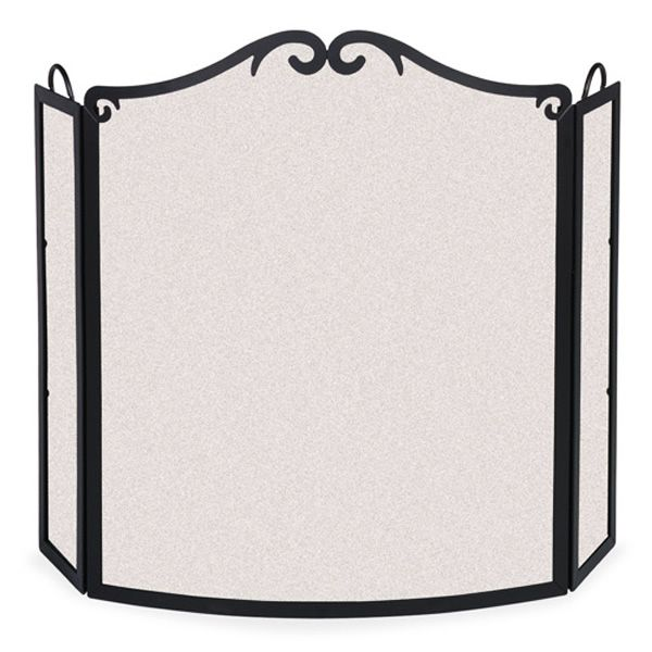 Extra Wide Arch Bowed Folding Fireplace Screen image number 0