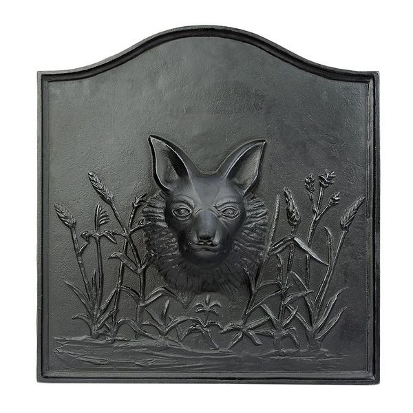 Fox Cast Iron Fireplace Fireback image number 0