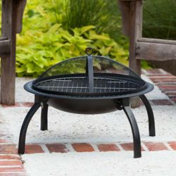 Folding Wood Burning Fire Pit - 22""