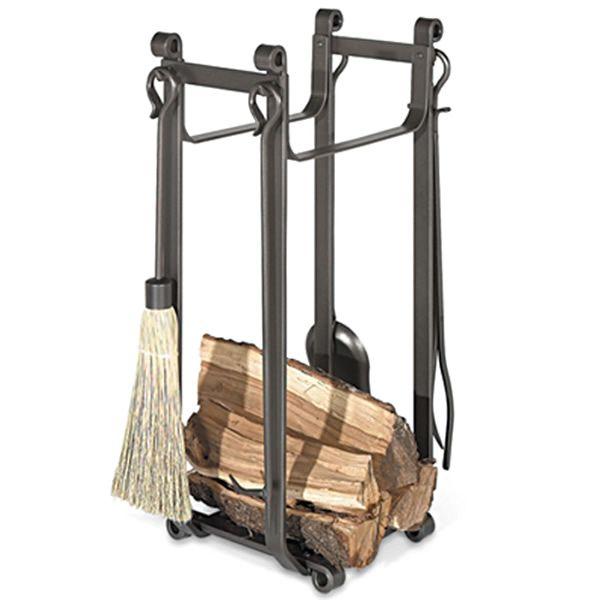 Pilgrim Forged Iron Indoor Firewood Rack - Vintage Iron image number 0
