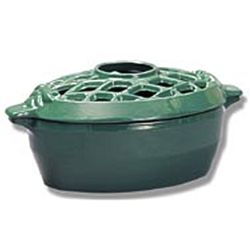 Forest Green Lattice Wood Stove Steamer
