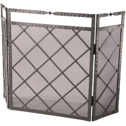 Forest Hill Fire Fireplace Screen - Triple Panel
