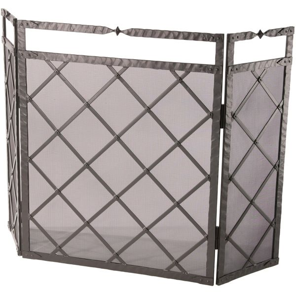 "Triple Panel Forest Hill Fire Fireplace Screen - 52"" x 34"" image number 0"
