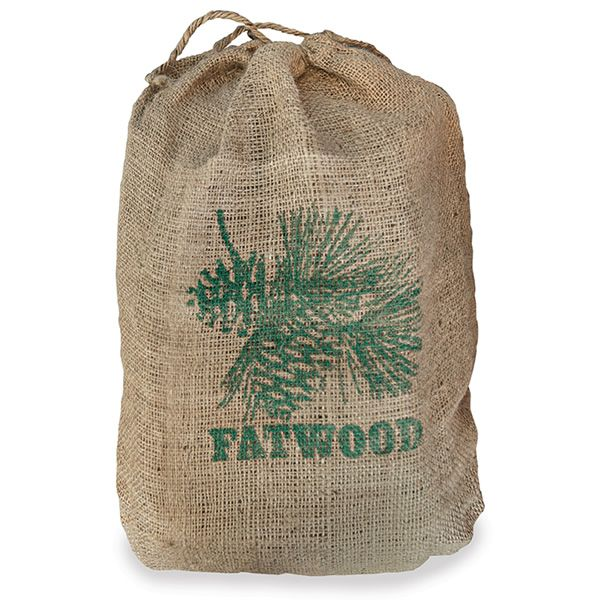 Fatwood in Burlap Sack - 8 Lbs. image number 0