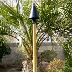 Faux Bamboo Torch Pole