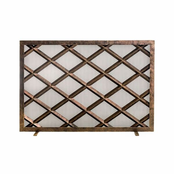 Fedora Steel Fireplace Screen image number 0