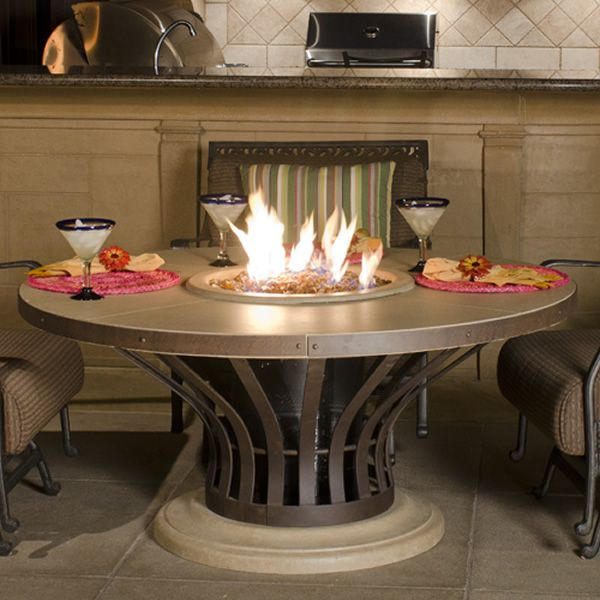 Fiesta Dining Gas Fire Pit Table image number 0