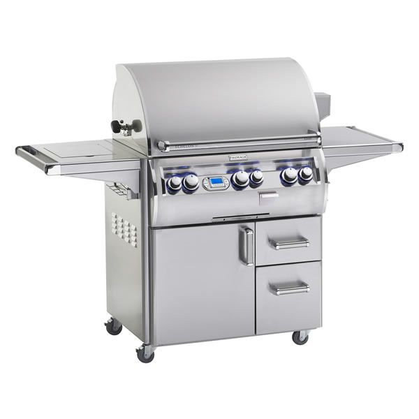 Fire Magic Echelon Diamond E660s Cart Mount Grill - Double Side Burner image number 0