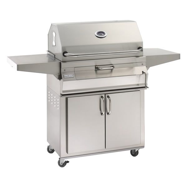 "Fire Magic Legacy Cart Mount Charcoal Grill - Traditional Hood - 24"" image number 0"
