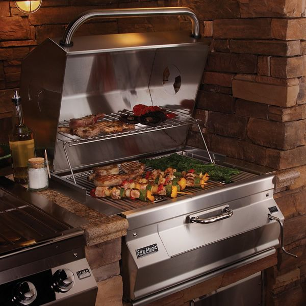 """Fire Magic Legacy Built-In Charcoal Grill-Oven/Hood - 24"""" image number 1"""
