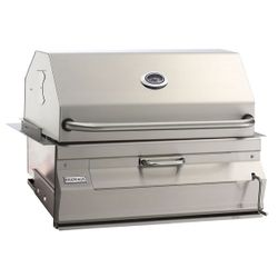 "Legacy Built-In Charcoal BBQ Grill-Smoker Oven/Hood-24""x18"""
