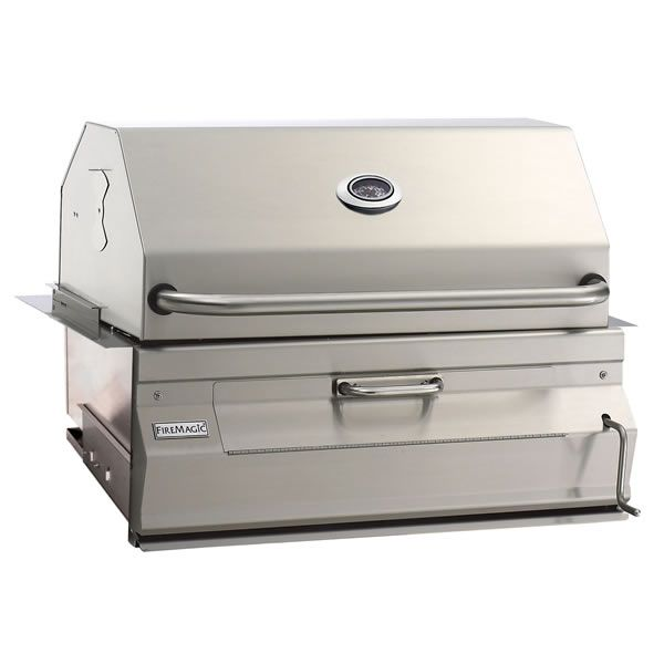 """Fire Magic Legacy Built-In Charcoal Grill-Smoker Oven/Hood - 24"""" image number 0"""