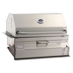 "Legacy Built-In Charcoal BBQ Grill-Smoker Oven/Hood-30""x18"""