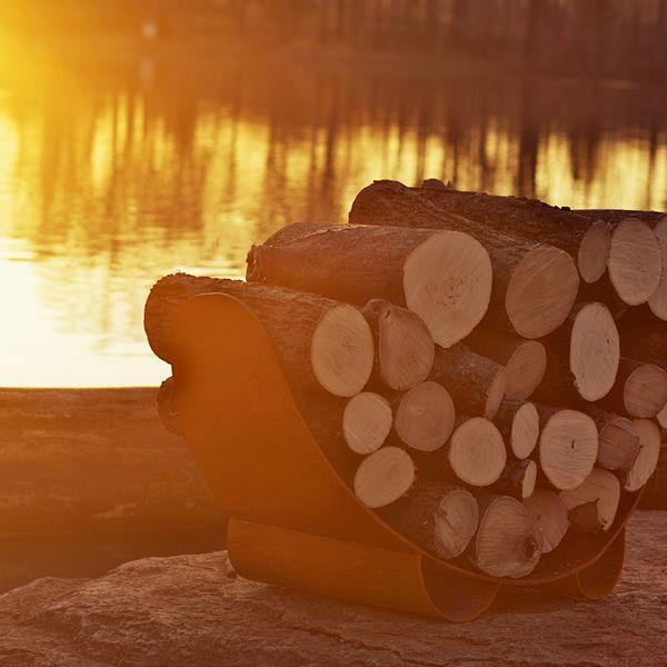 Fire Pit Art Haven Firewood Rack image number 1