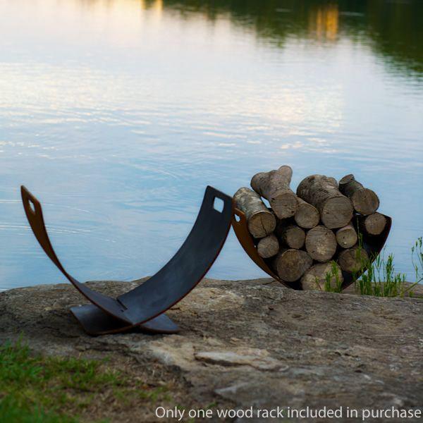 Fire Pit Art Wings in Flight Firewood Rack image number 5