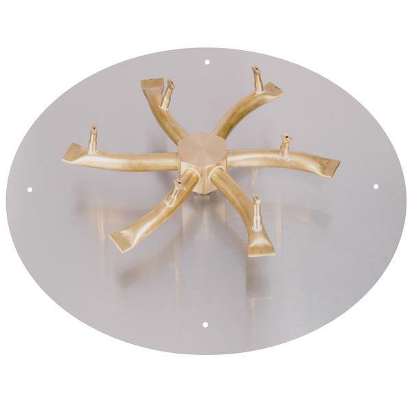 """Round Brass Bullet Burner System - 12"""" - Match Lit Cert. image number 0"""