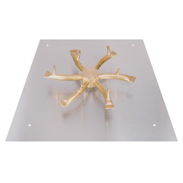 """Square Brass Bullet Burner System - 12"""" - Match Lit Cert. image number 0"""