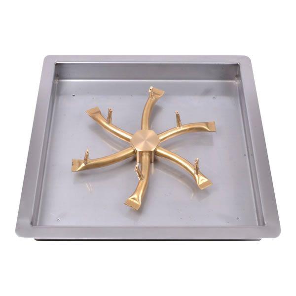 """Square Drop-In Brass Bullet Burner System - 18"""" - Match Cert image number 0"""