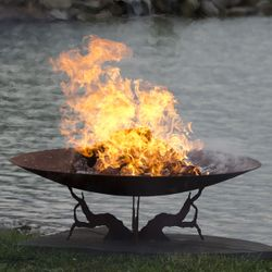 """Earth and Sky 53"""" Hand Crafted Steel Fire Pit"""