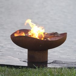 """Mini Dune 24"""" Hand Crafted Steel Fire Pit"""