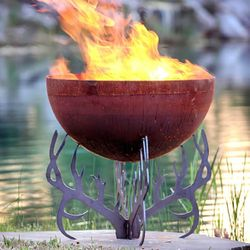Fire Pit Gallery Rack of Fire Antler Fire Pit