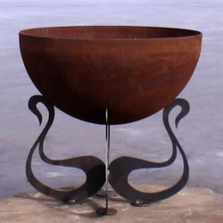 Fire Pit Gallery Sounds of Fire-Swan Fire Pit