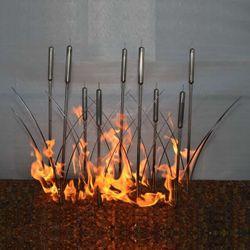"""Fire Reeds Gas Fire Pit Burner - 24"""" Match Lit"""