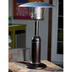 Fire Sense Table Top Patio Heater - Hammer Tone Bronze