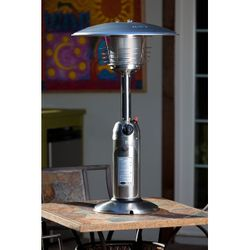 Fire Sense Table Top Patio Heater - Stainless Steel