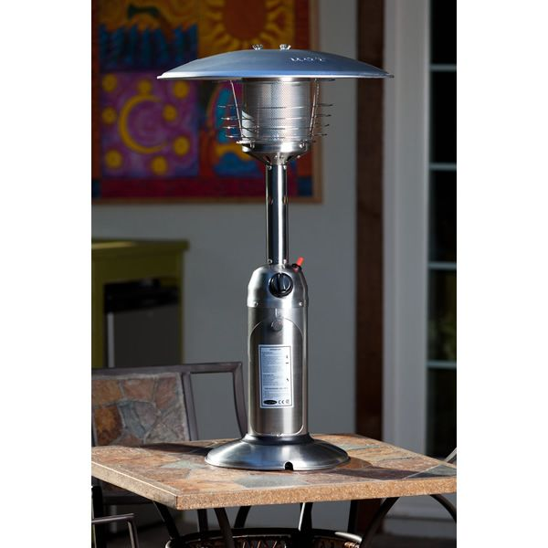 Fire Sense Table Top Patio Heater - Stainless Steel image number 0