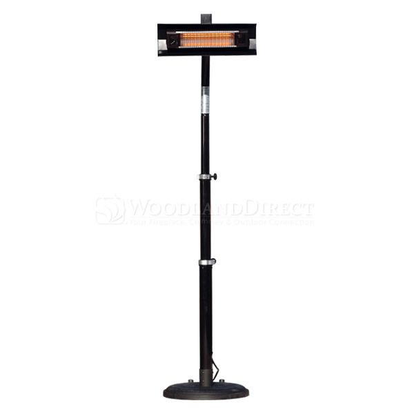 Fire Sense Telescoping Infrared Patio Heater - Black image number 0