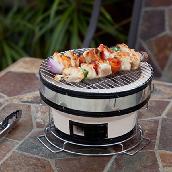 Fire Sense Yakatori Round Ceramic Tabletop  BBQ image number 1