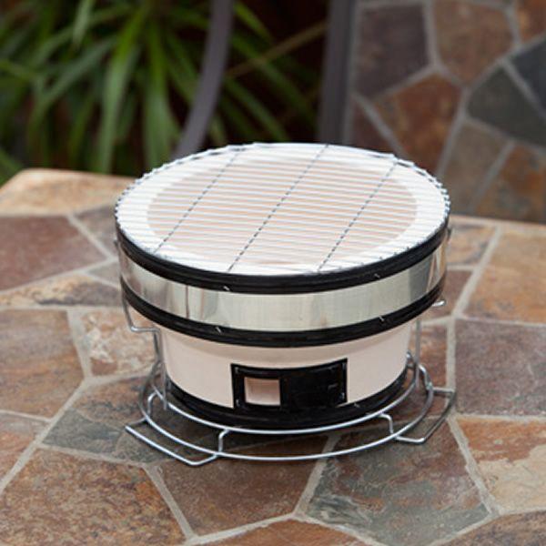 Fire Sense Yakatori Round Ceramic Tabletop  BBQ image number 0