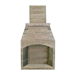 Pre-Engineered Arched Masonry Wood Burning Outdoor Fireplace - 42""