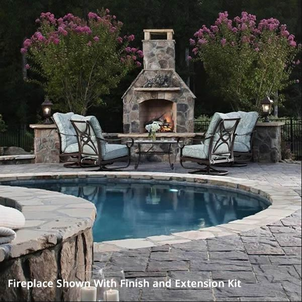 """Pre-Engineered Arched Masonry Wood Burning Outdoor Fireplace - 30"""" image number 4"""