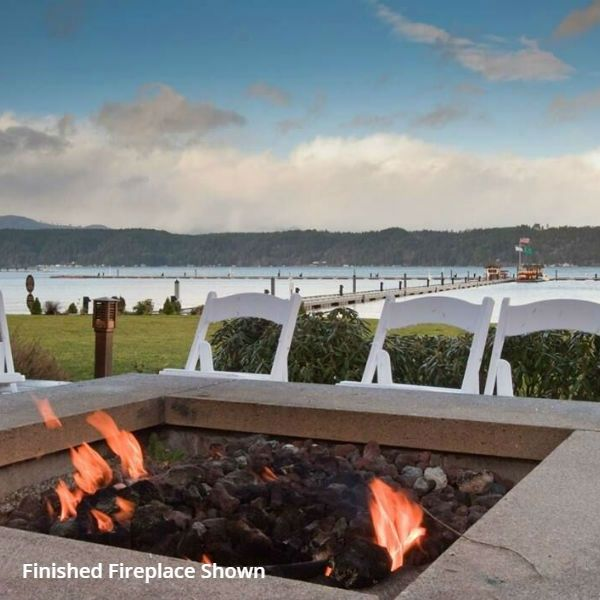 """Pre-Engineered Square Masonry Fire Pit - 60"""" image number 5"""