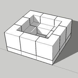 "Pre-Engineered Square Masonry Fire Pit - 72"""