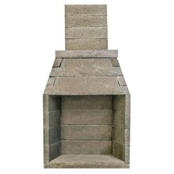 Pre-Engineered Masonry Wood Burning Outdoor Fireplace - 36""