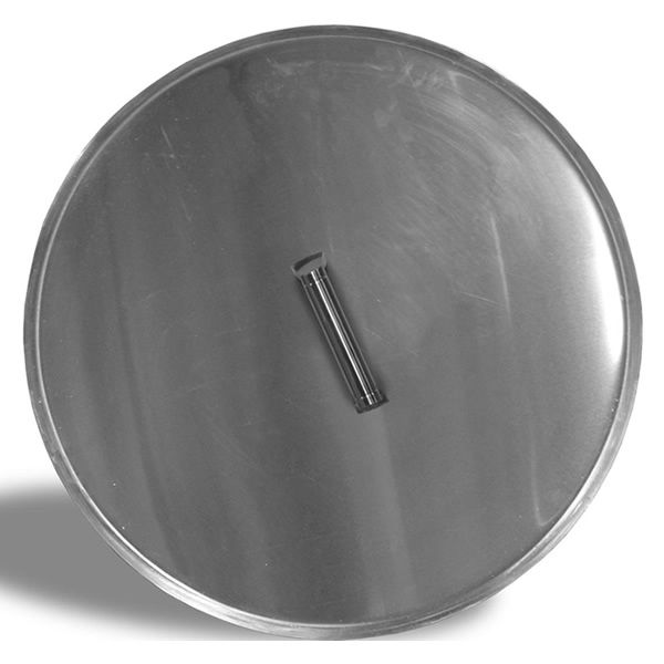 "Firegear 19"" Round Pan Lid - Stainless Steel image number 0"