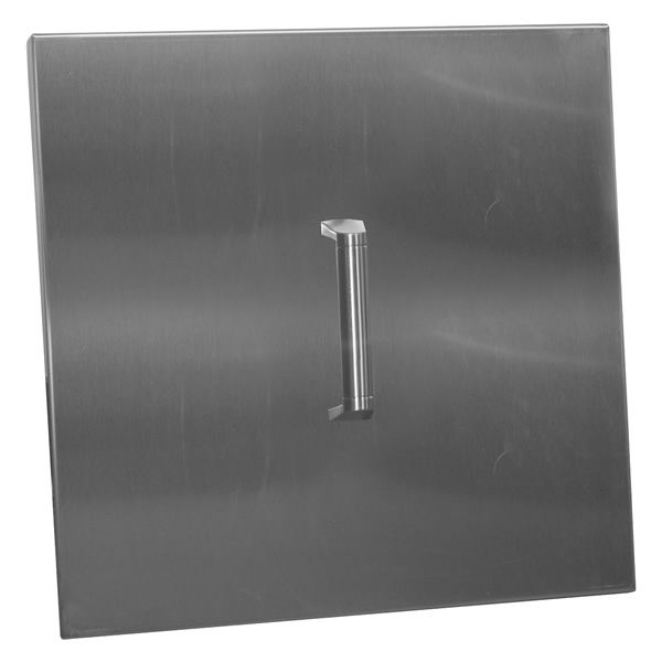 "Firegear 26"" Square Pan Lid - Stainless Steel image number 0"