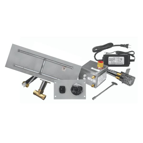 "Firegear 84""x16"" SS Flat H-Burner System - Electronic image number 0"