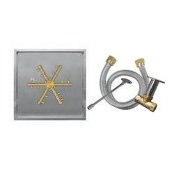 Firegear Pro Series 20 Square DropIn Brass Burner- Match Lit