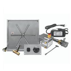"""Firegear 20"""" Square SS Drop-In Burner System - Electronic"""
