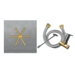 "Firegear Pro Series 25"" Square Flat Brass Burner- Match Lit"