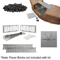 """Firegear 30"""" Square DIY Fire Pit Kit - Match Lit"""