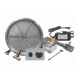 "Firegear 33"" Round SS Drop-In Burner System - Electronic"