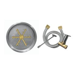 "Firegear 29"" Round Drop-In Brass Burner System - Match Lit"