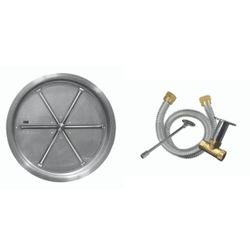"Firegear 16"" Round SS Drop-In Burner System - Match Lit"