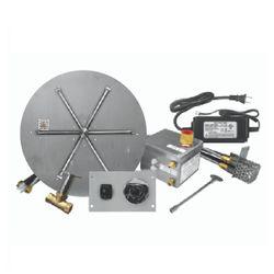 "Firegear 39"" Round Flat SS Burner System - Electronic"